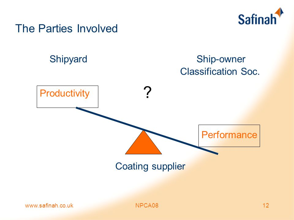 The Parties Involved Shipyard Ship-owner Classification Soc.