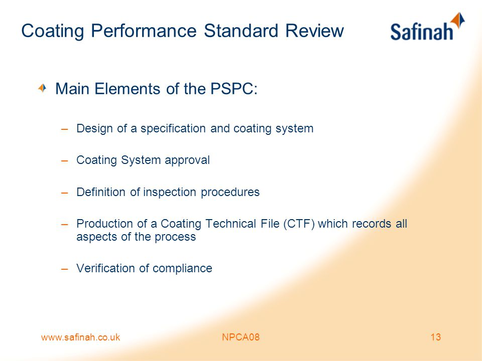 Coating Performance Standard Review