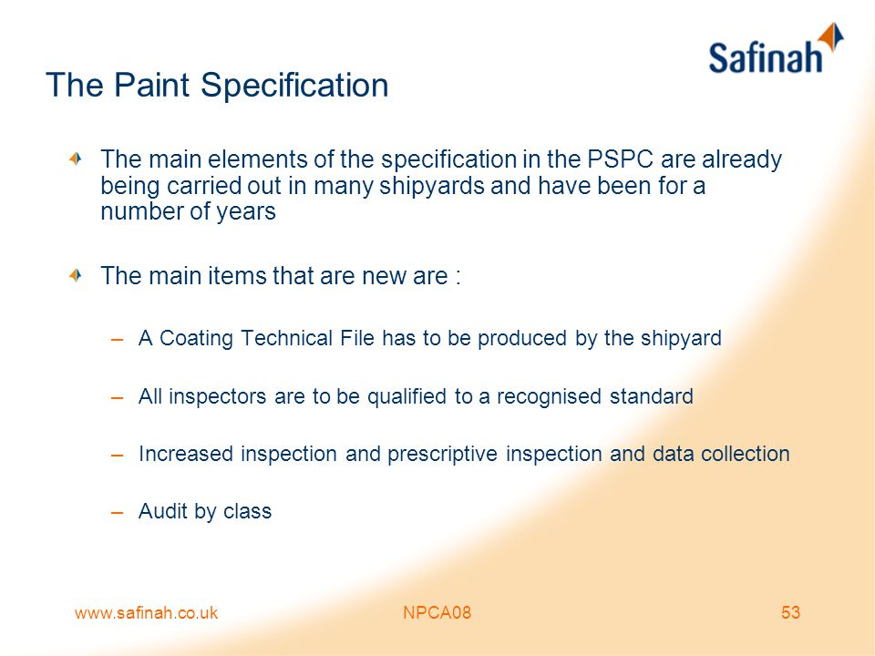 The Paint Specification