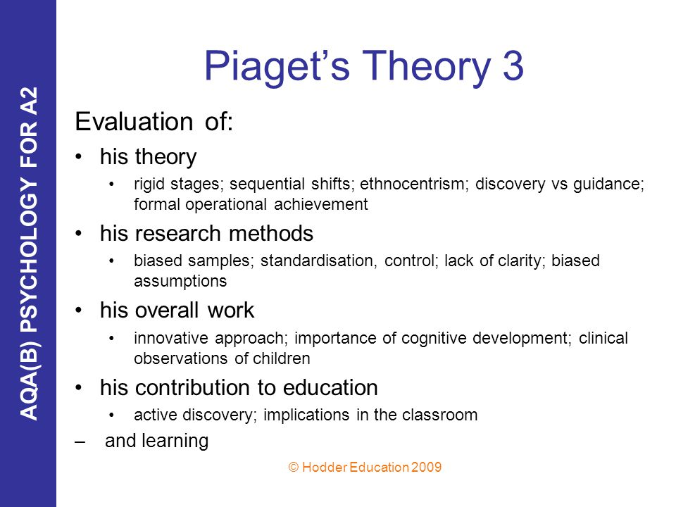 "evaluate two theories piaget and kolhberg Moral stage theory was the completion of piaget's own intentions in the moral domain were piaget not to put aside this work for other topics, which is to say that kohlberg found the ""hard"" moral stages that somehow eluded piaget (1932/1965) in his preliminary study."