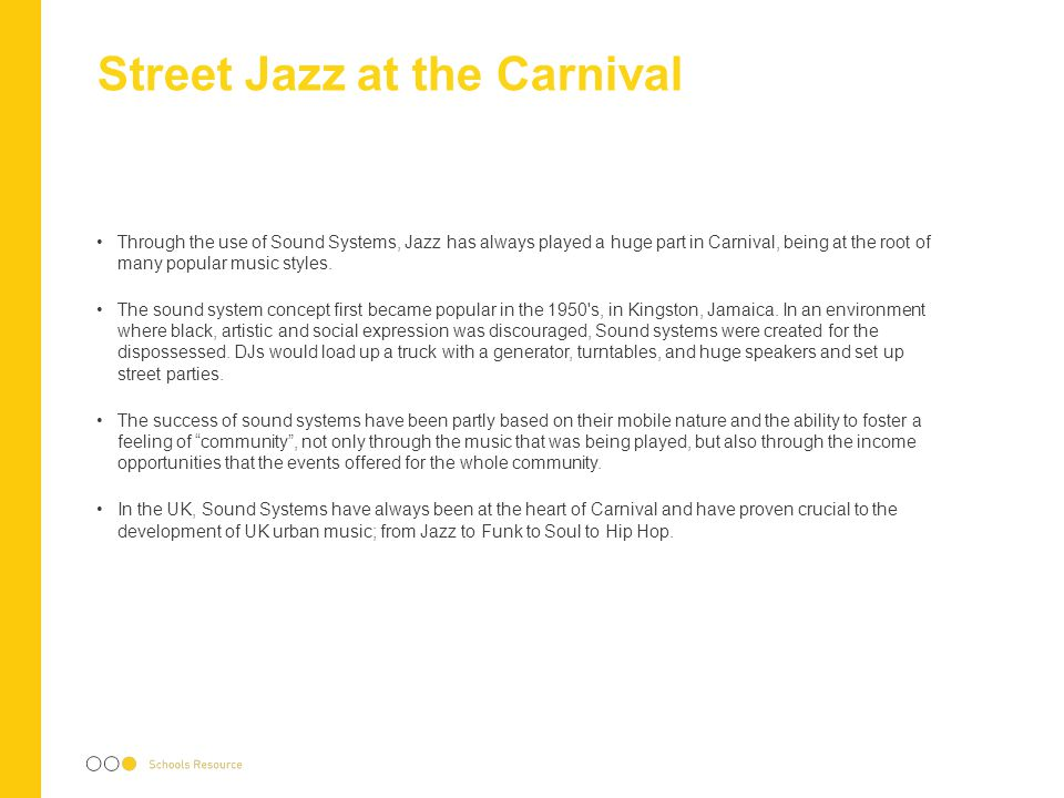 Street Jazz at the Carnival