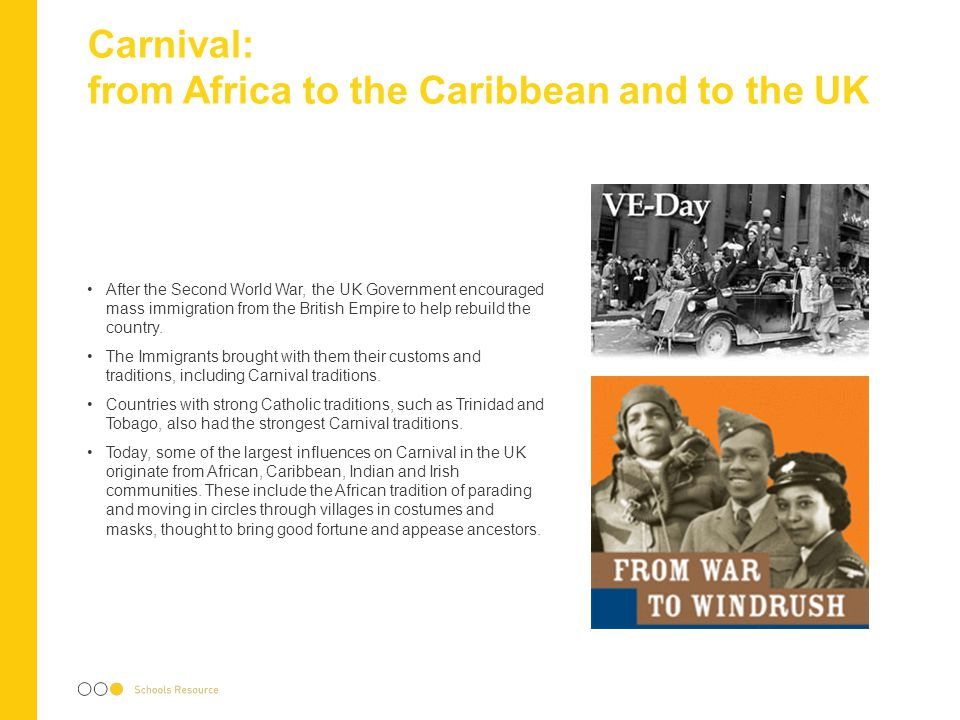 Carnival: from Africa to the Caribbean and to the UK