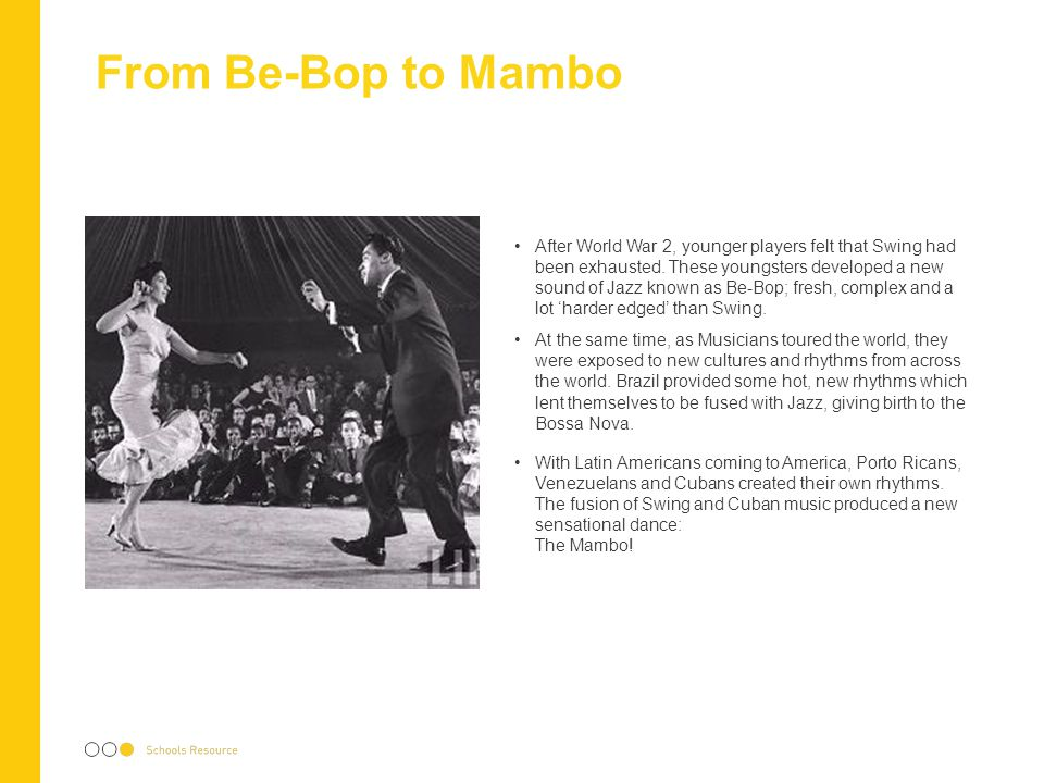 From Be-Bop to Mambo