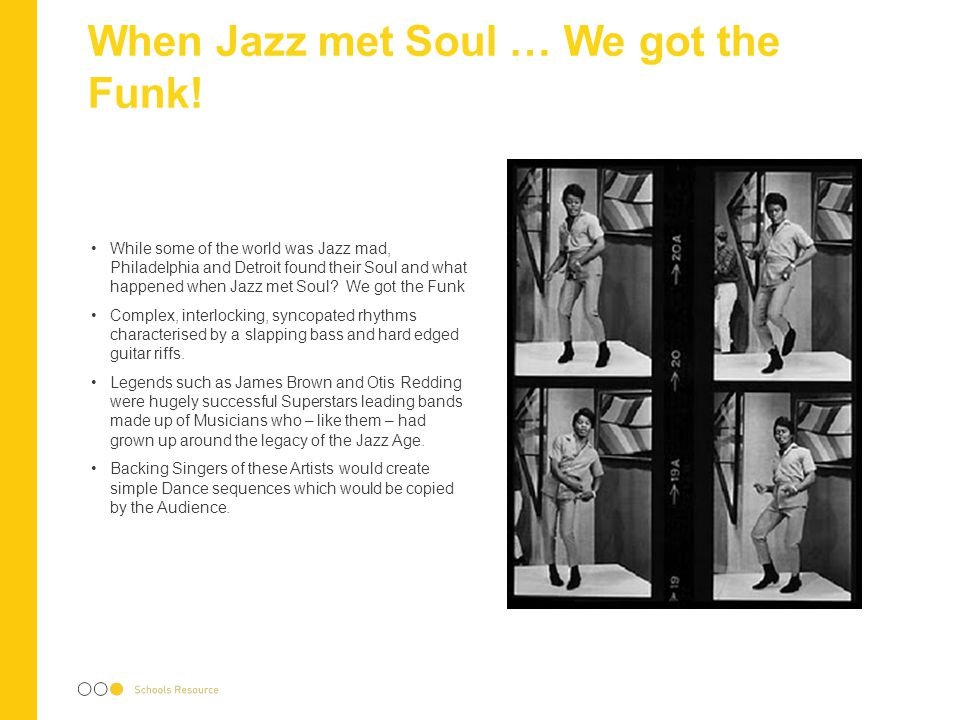 When Jazz met Soul … We got the Funk!