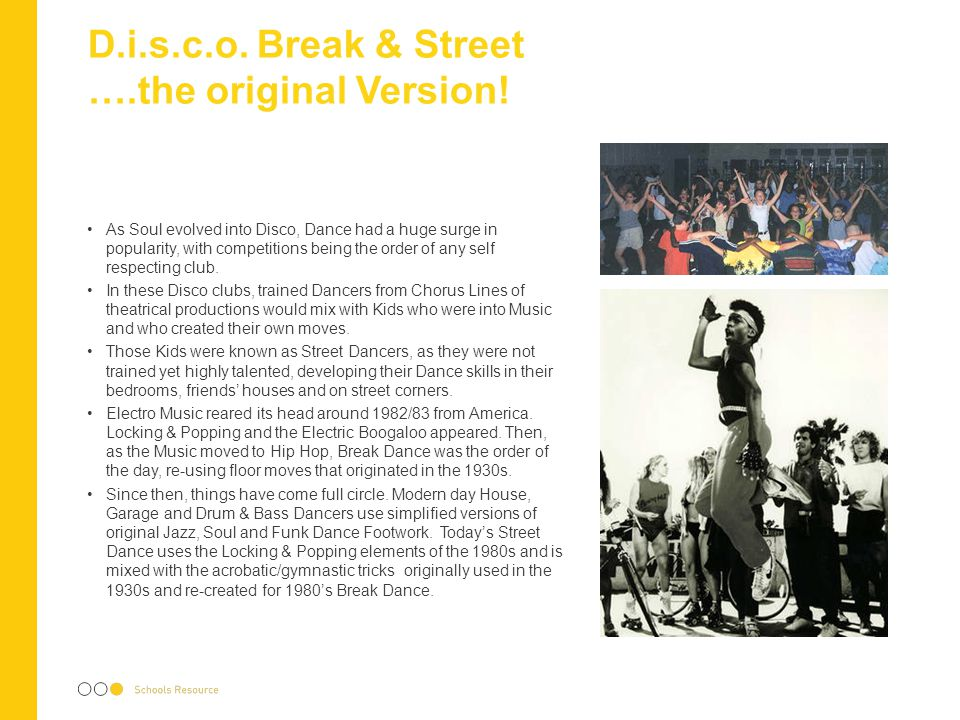 D.i.s.c.o. Break & Street ….the original Version!