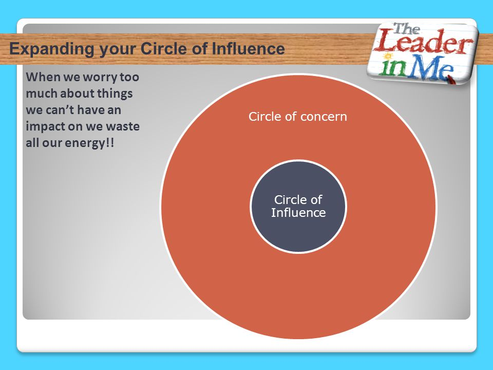 Expanding your Circle of Influence