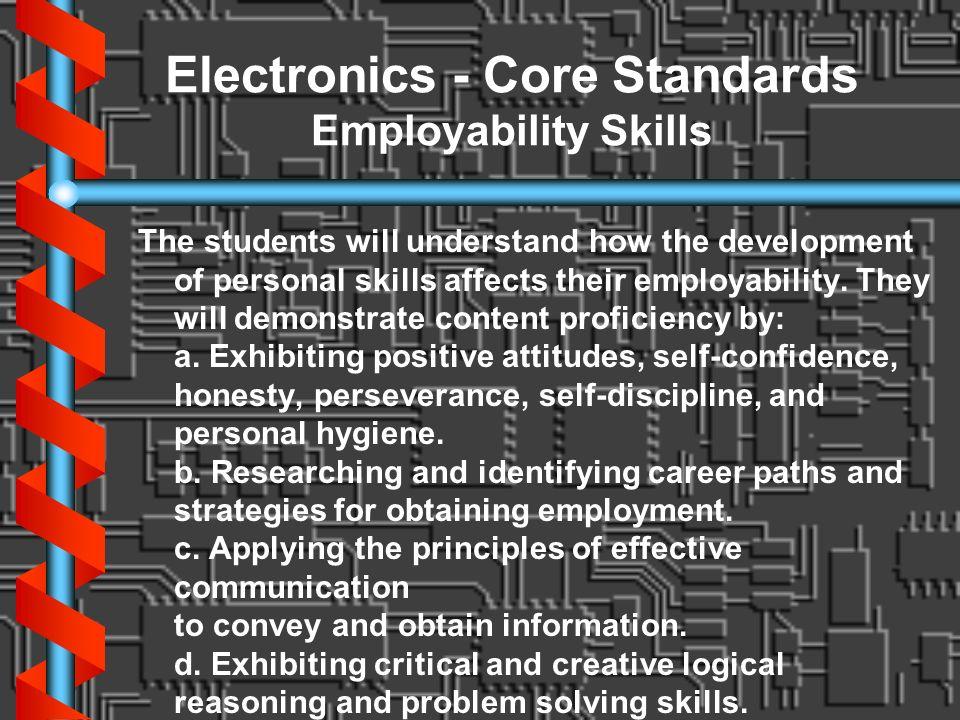 Electronics - Core Standards Employability Skills