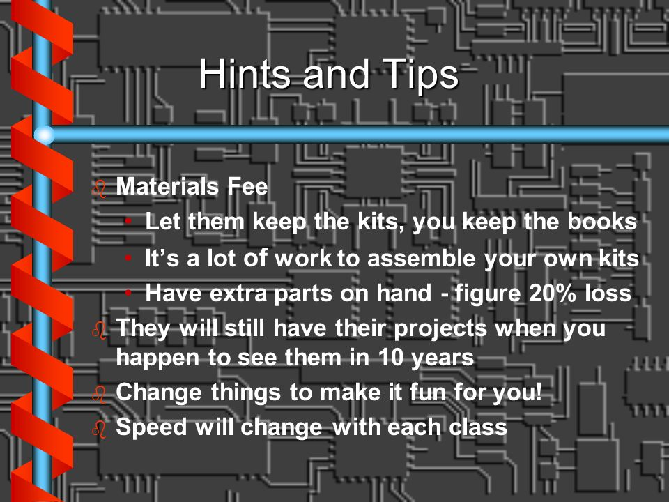 Hints and Tips Materials Fee