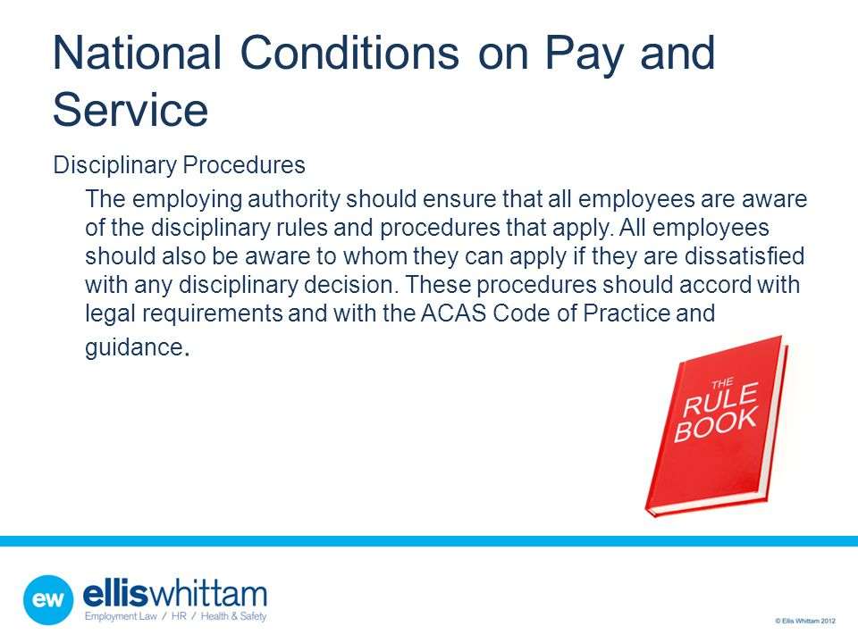 National Conditions on Pay and Service