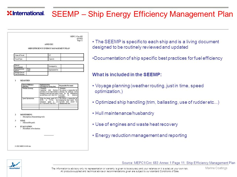 SEEMP – Ship Energy Efficiency Management Plan