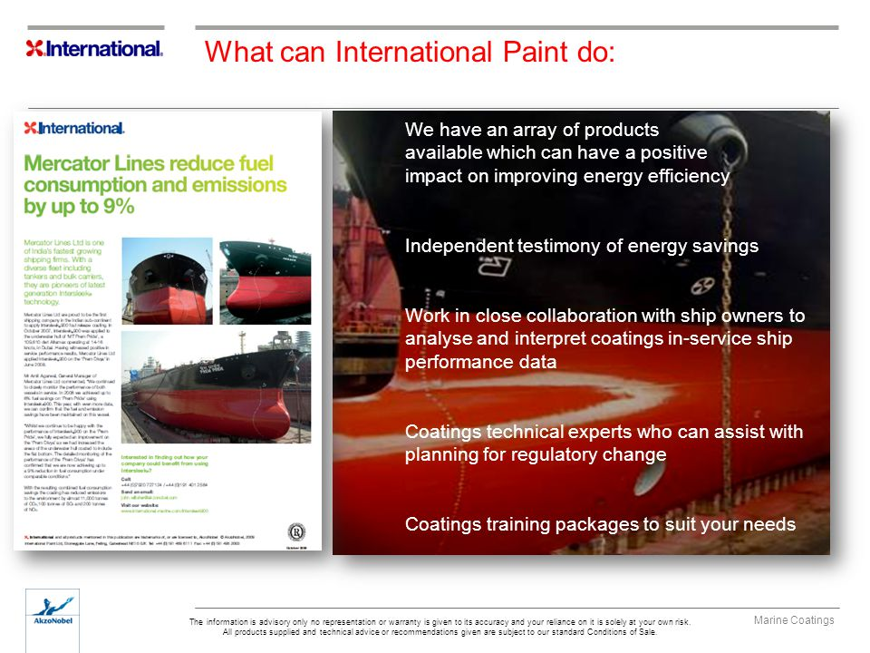 What can International Paint do: