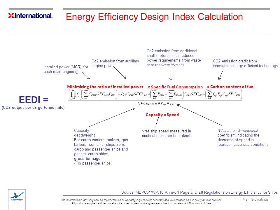Energy Efficiency Design Index Calculation