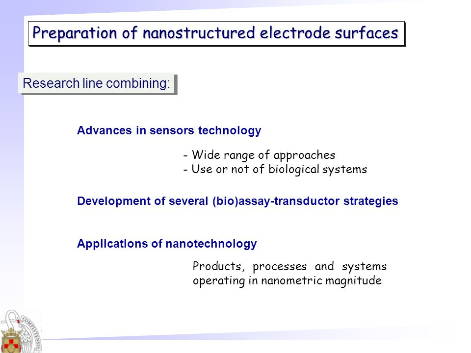 Preparation of nanostructured electrode surfaces