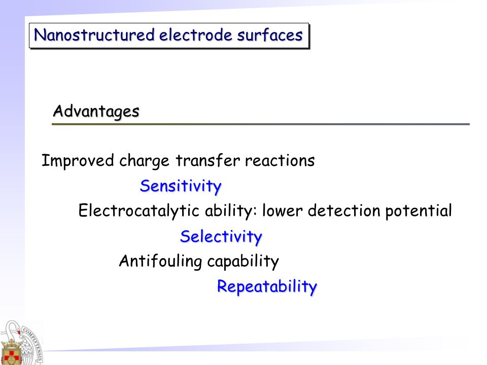 Nanostructured electrode surfaces