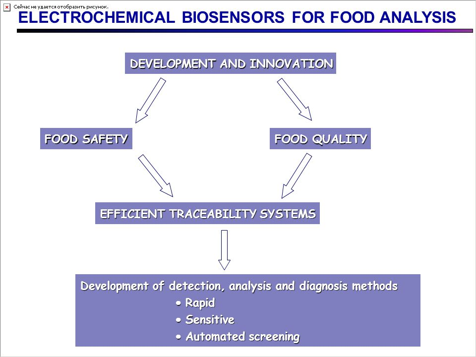 ELECTROCHEMICAL BIOSENSORS FOR FOOD ANALYSIS