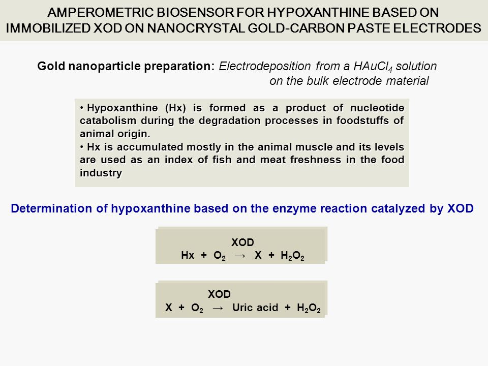 AMPEROMETRIC BIOSENSOR FOR HYPOXANTHINE BASED ON