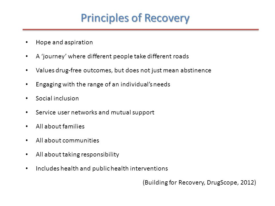 Principles of Recovery