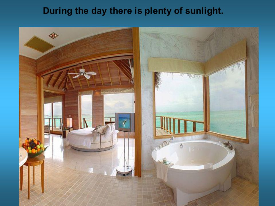 During the day there is plenty of sunlight.