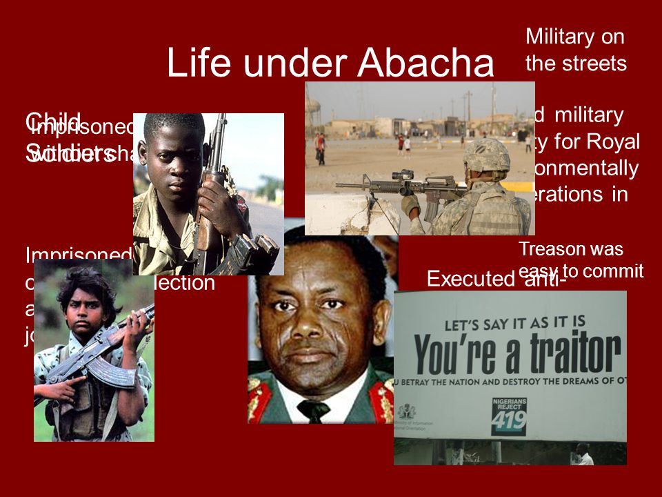 Life under Abacha Child Soldiers Military on the streets