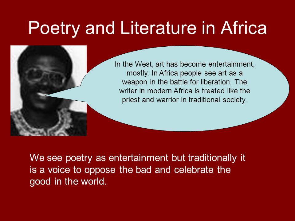 Poetry and Literature in Africa