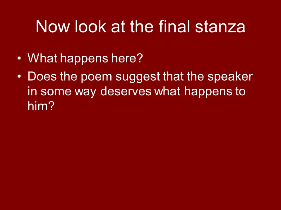 Now look at the final stanza