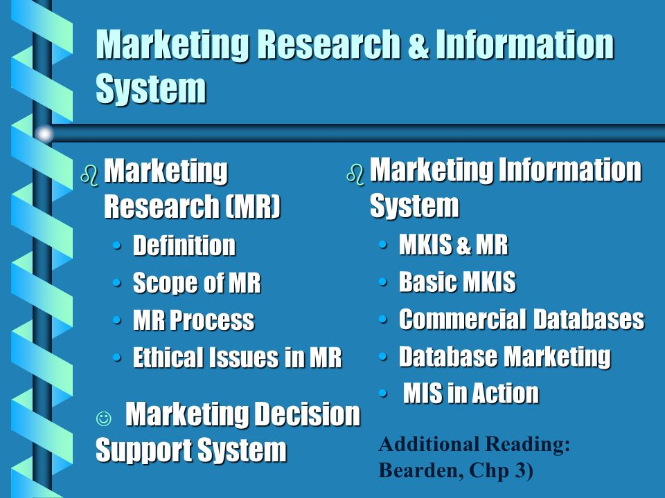 Marketing Research & Information System