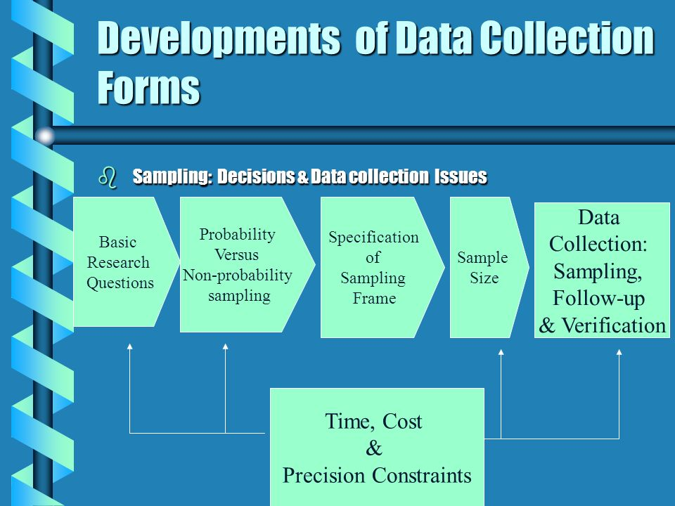Developments of Data Collection Forms