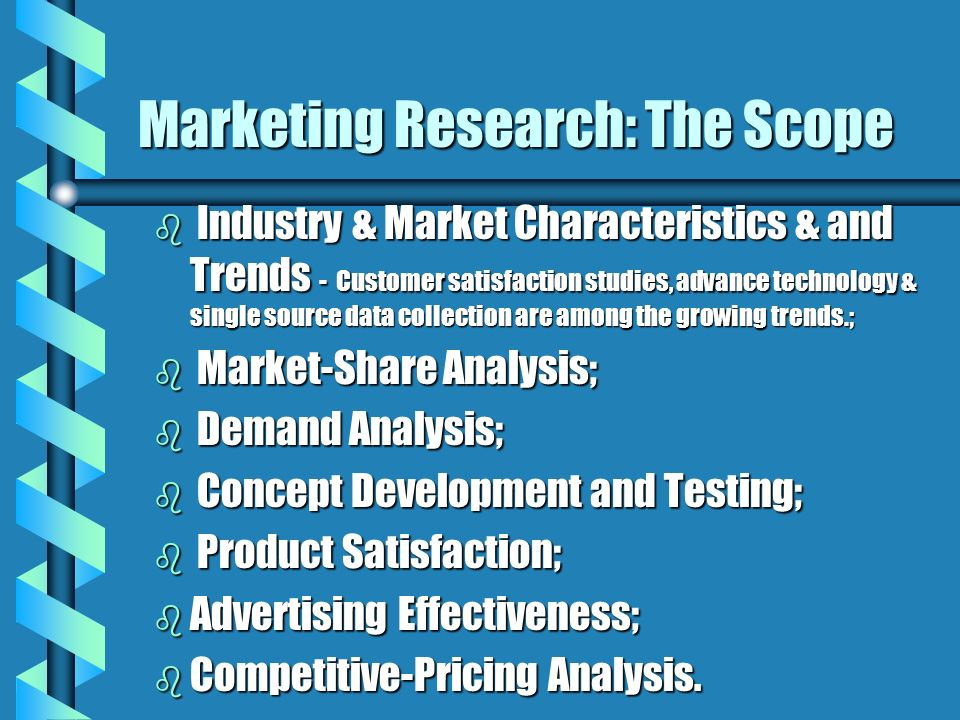 Marketing Research: The Scope