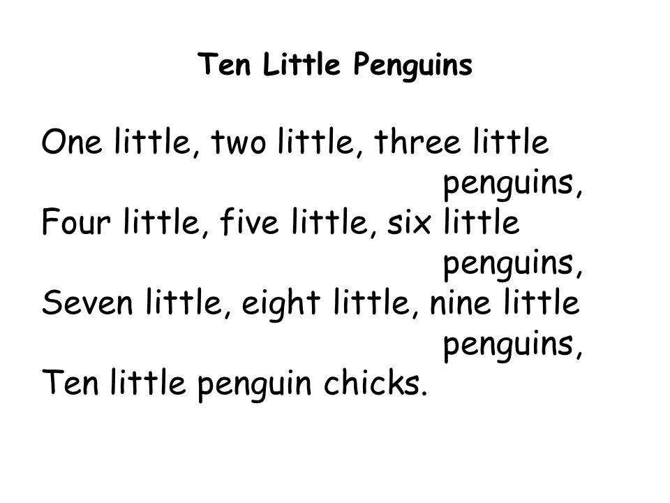 Ten Little Penguins