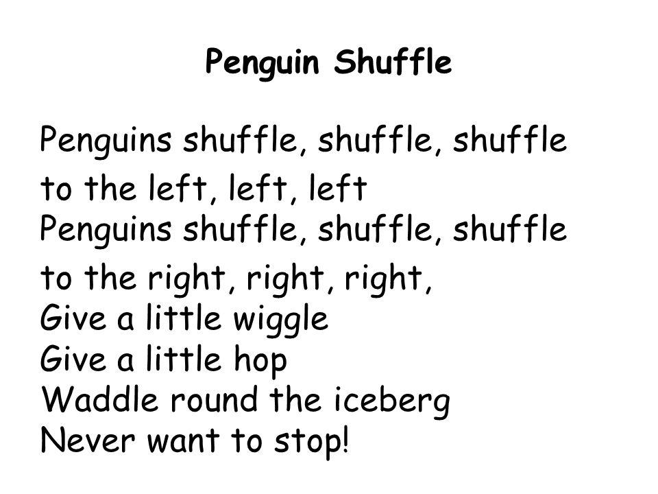 Penguins shuffle, shuffle, shuffle