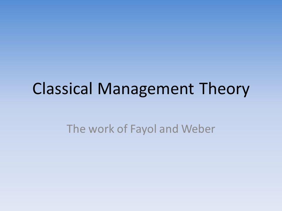 classical and human relations theories essay