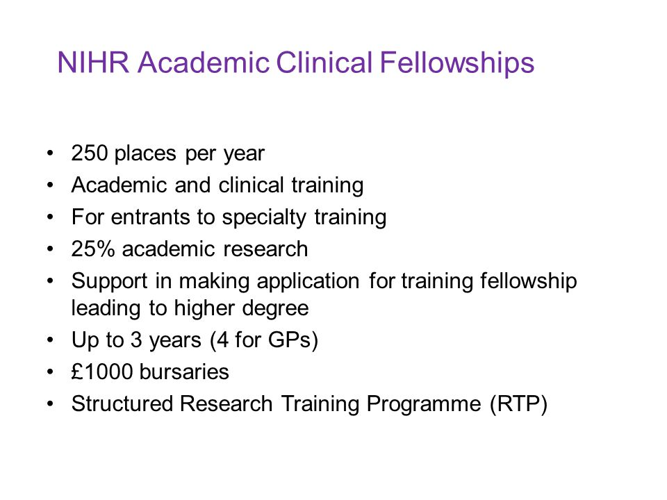 NIHR Academic Clinical Fellowships