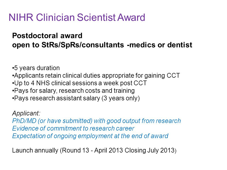 NIHR Clinician Scientist Award