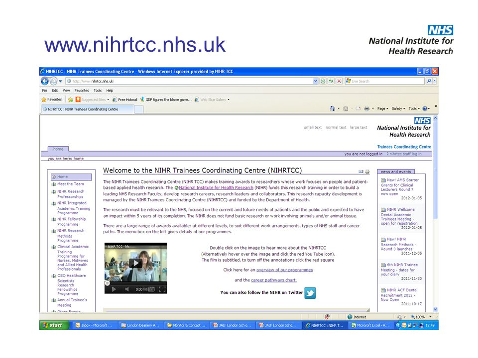 www.nihrtcc.nhs.uk