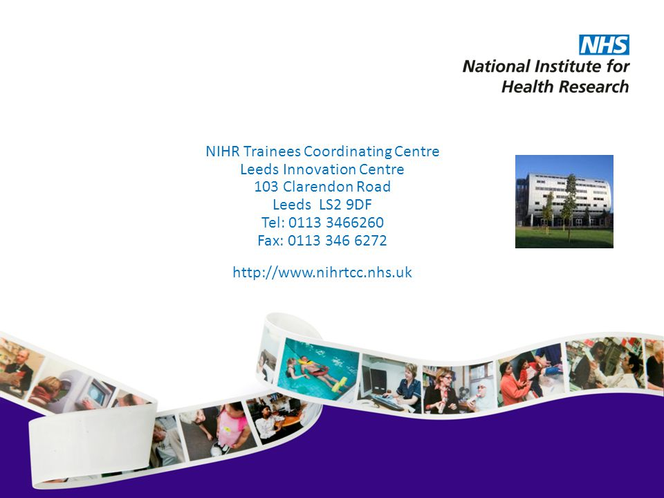 NIHR Trainees Coordinating Centre Leeds Innovation Centre