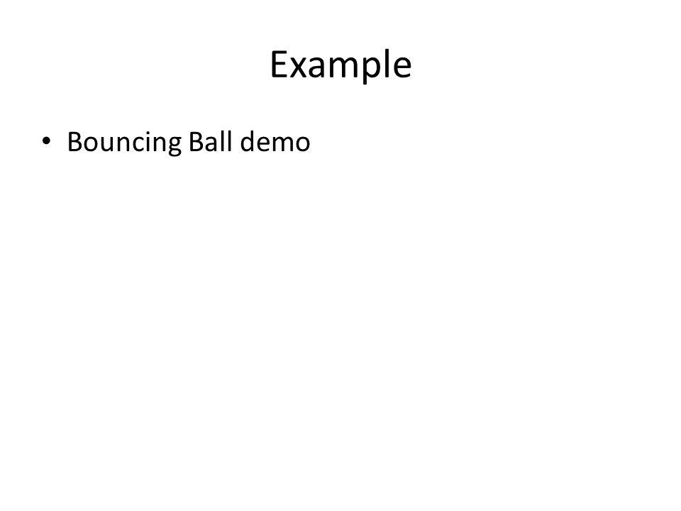 Example Bouncing Ball demo