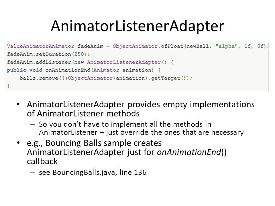 AnimatorListenerAdapter