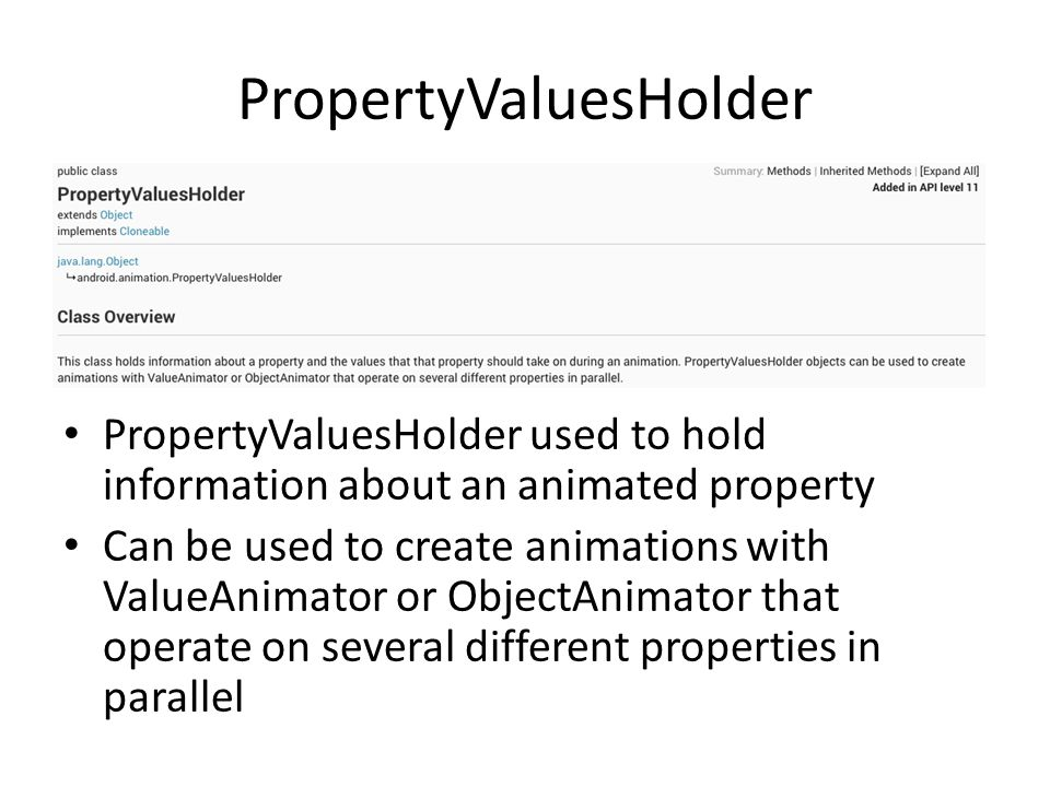 PropertyValuesHolder