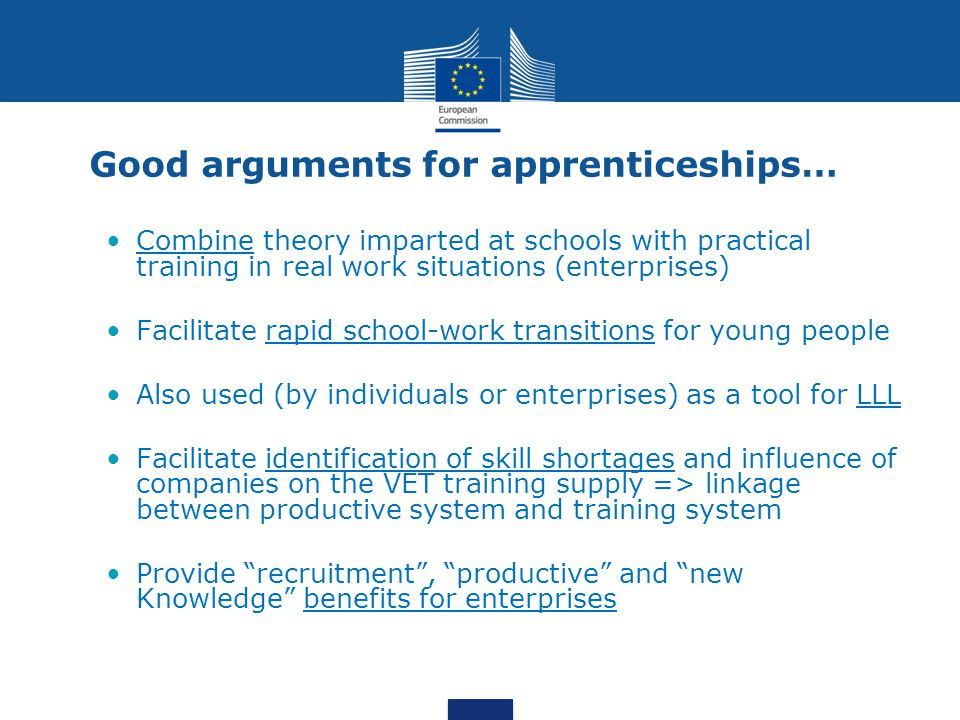 Good arguments for apprenticeships…
