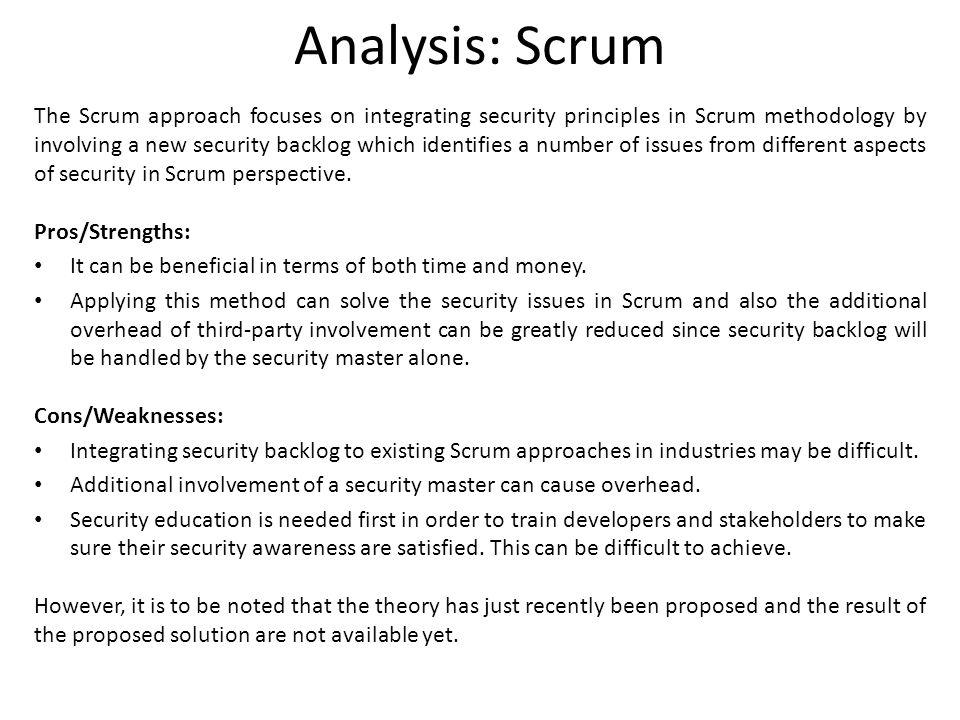 Analysis: Scrum