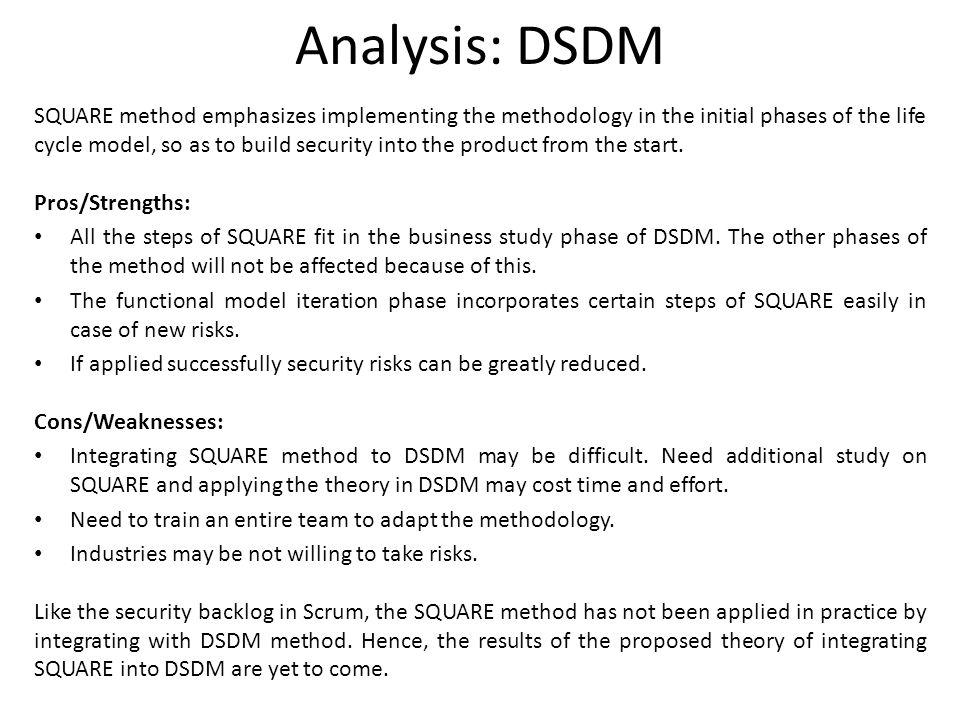 Analysis: DSDM