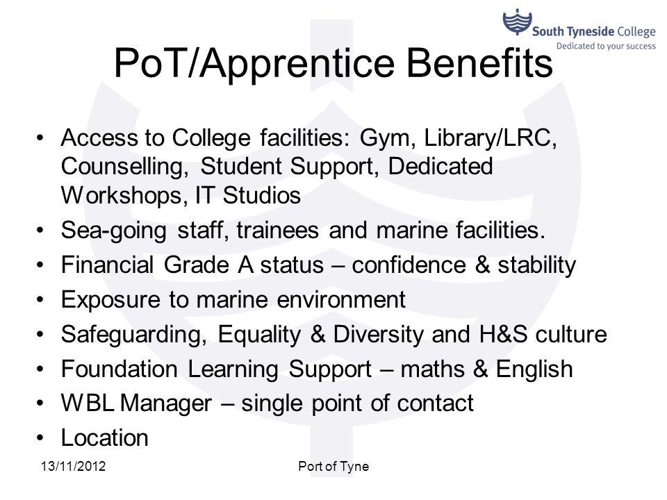 PoT/Apprentice Benefits