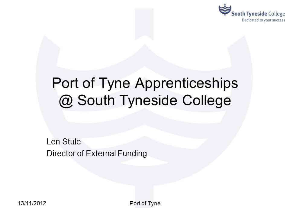 Port of Tyne Apprenticeships @ South Tyneside College