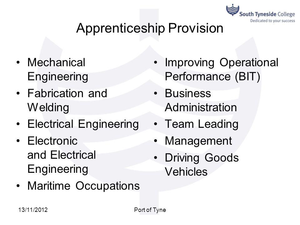 Apprenticeship Provision