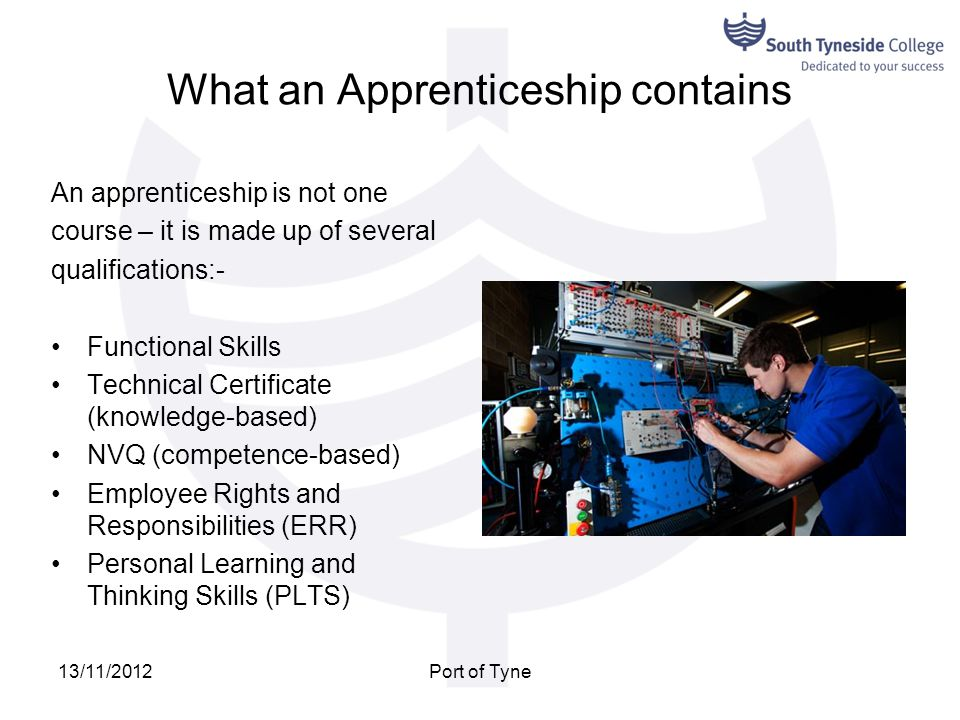 What an Apprenticeship contains