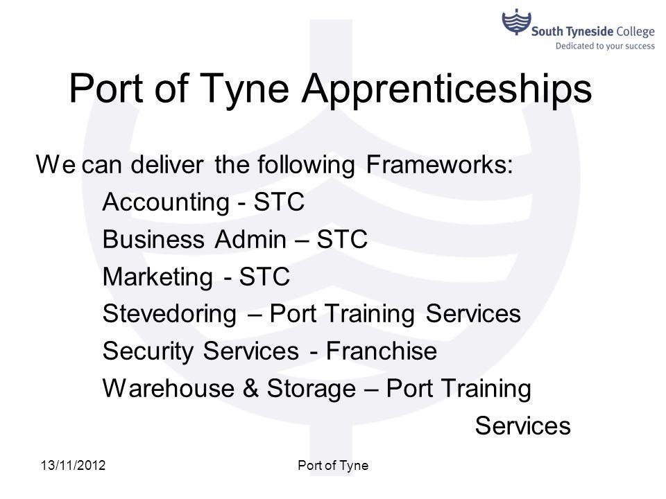 Port of Tyne Apprenticeships