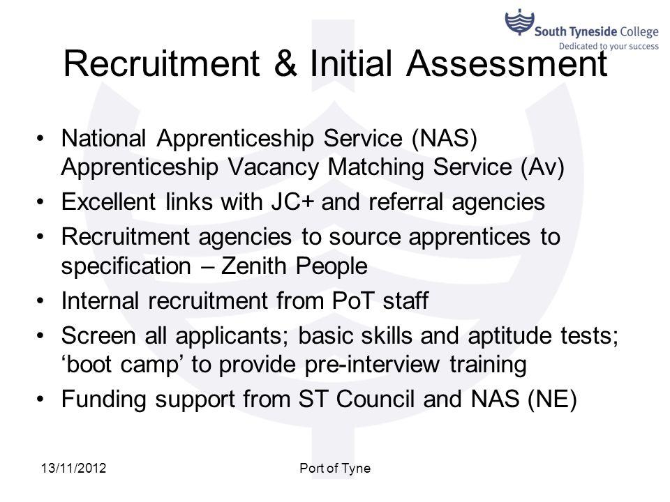Recruitment & Initial Assessment