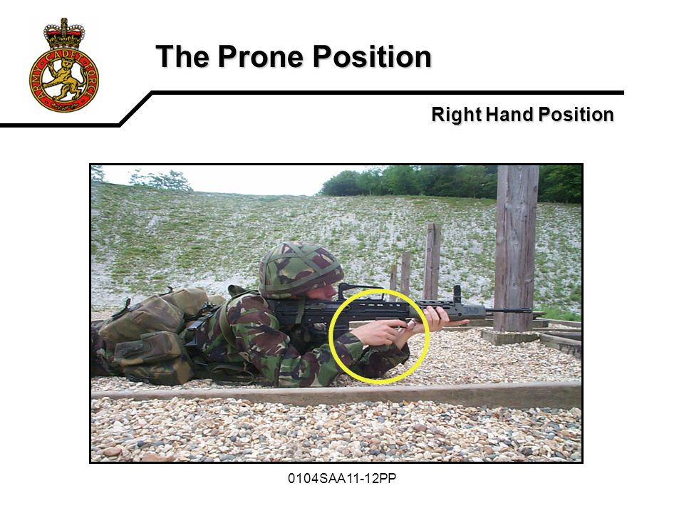 The Prone Position Right Hand Position 0104SAA11-12PP