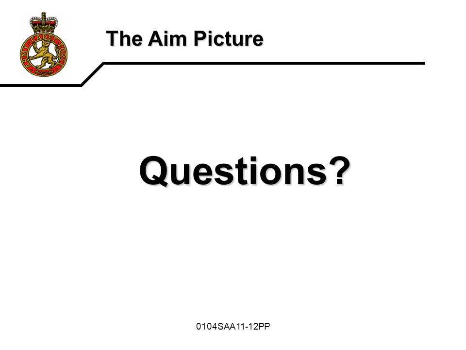 The Aim Picture Questions 0104SAA11-12PP