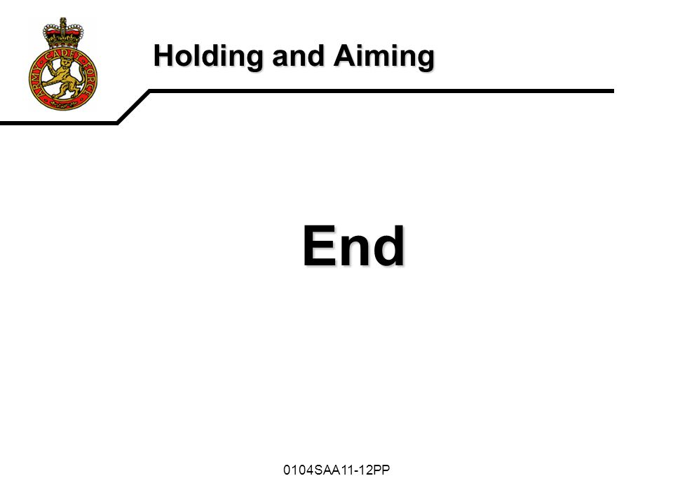 Holding and Aiming End 0104SAA11-12PP
